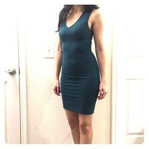 BarIII mini green sleeveless dress